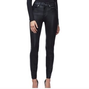 Good American good legs waxed high waist jeans 6